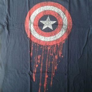 Marvel Men's T-shirt Captain America Shield